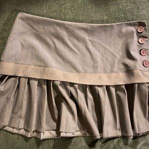 Sexy gray pleated mini skirt
